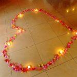 сердце из лепестков