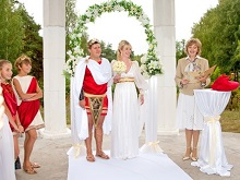 Свадьба в стиле греческих богов