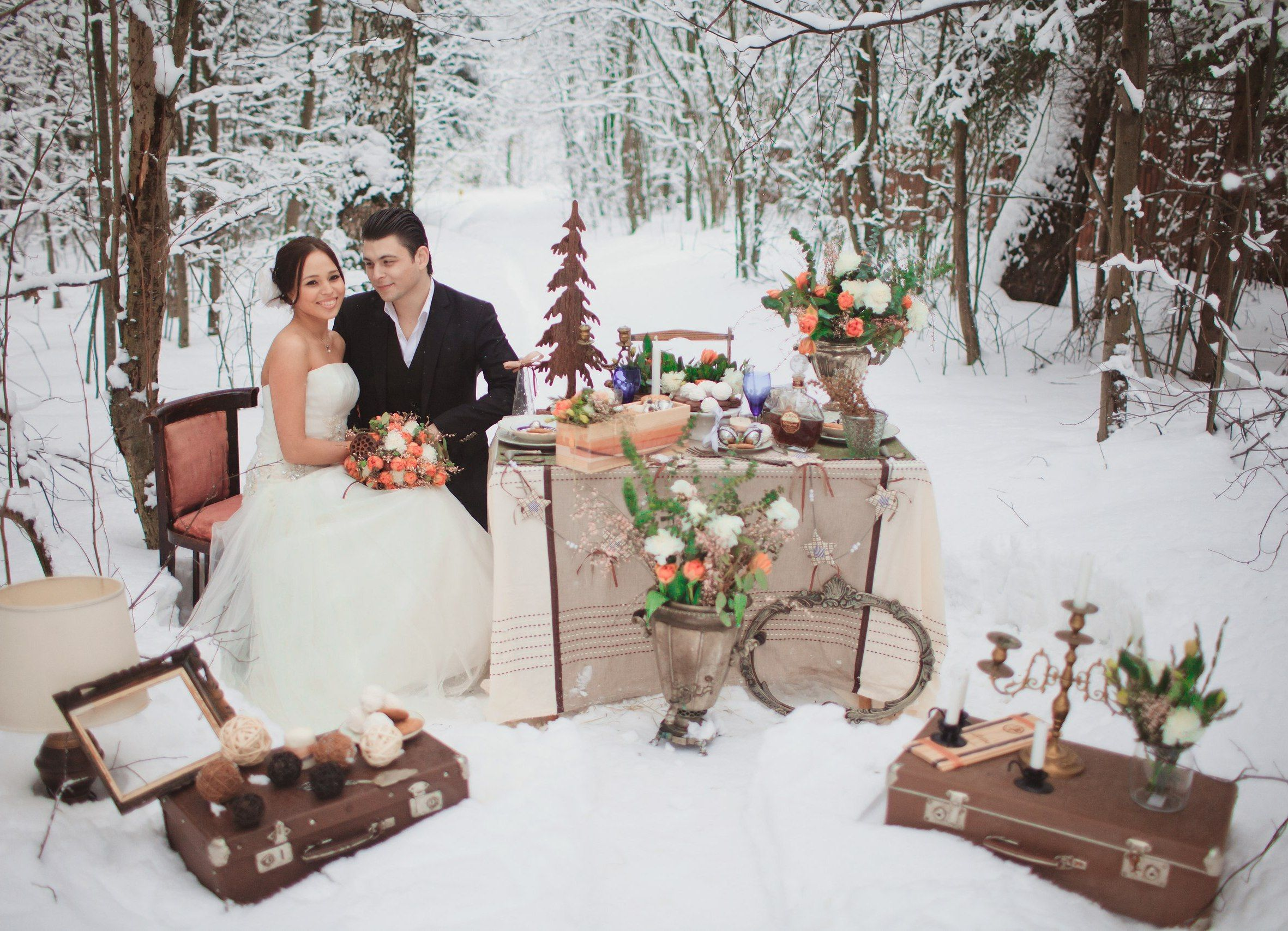Свадьба зимой или идеи зимней свадьбы